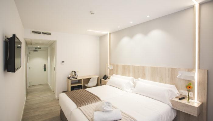 Habitación doble hotel en Soria